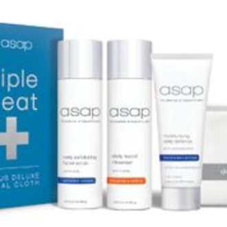 asap Triple Treat + Bonus Deluxe Facial Cloth